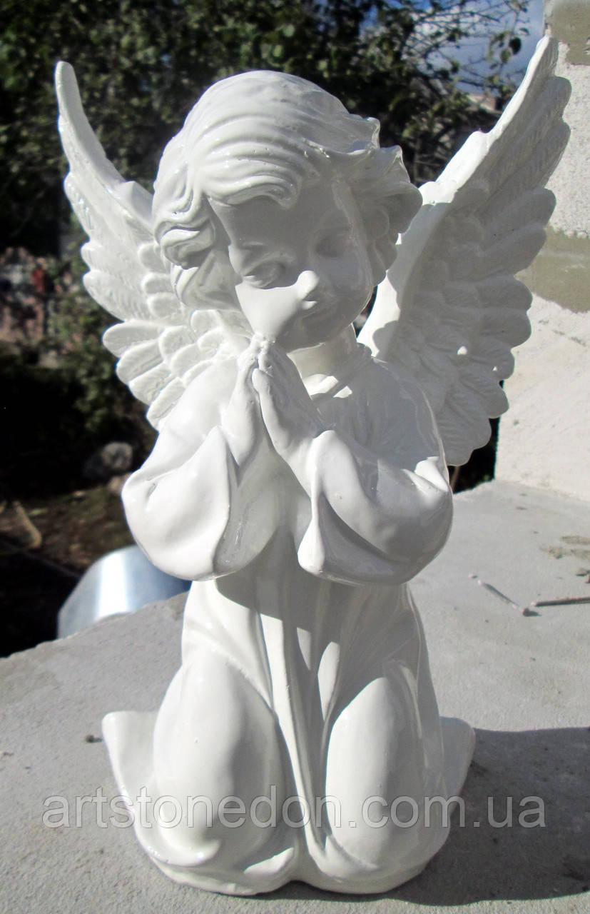 Скульптура из полимера Ангелочек молящийся 27 см