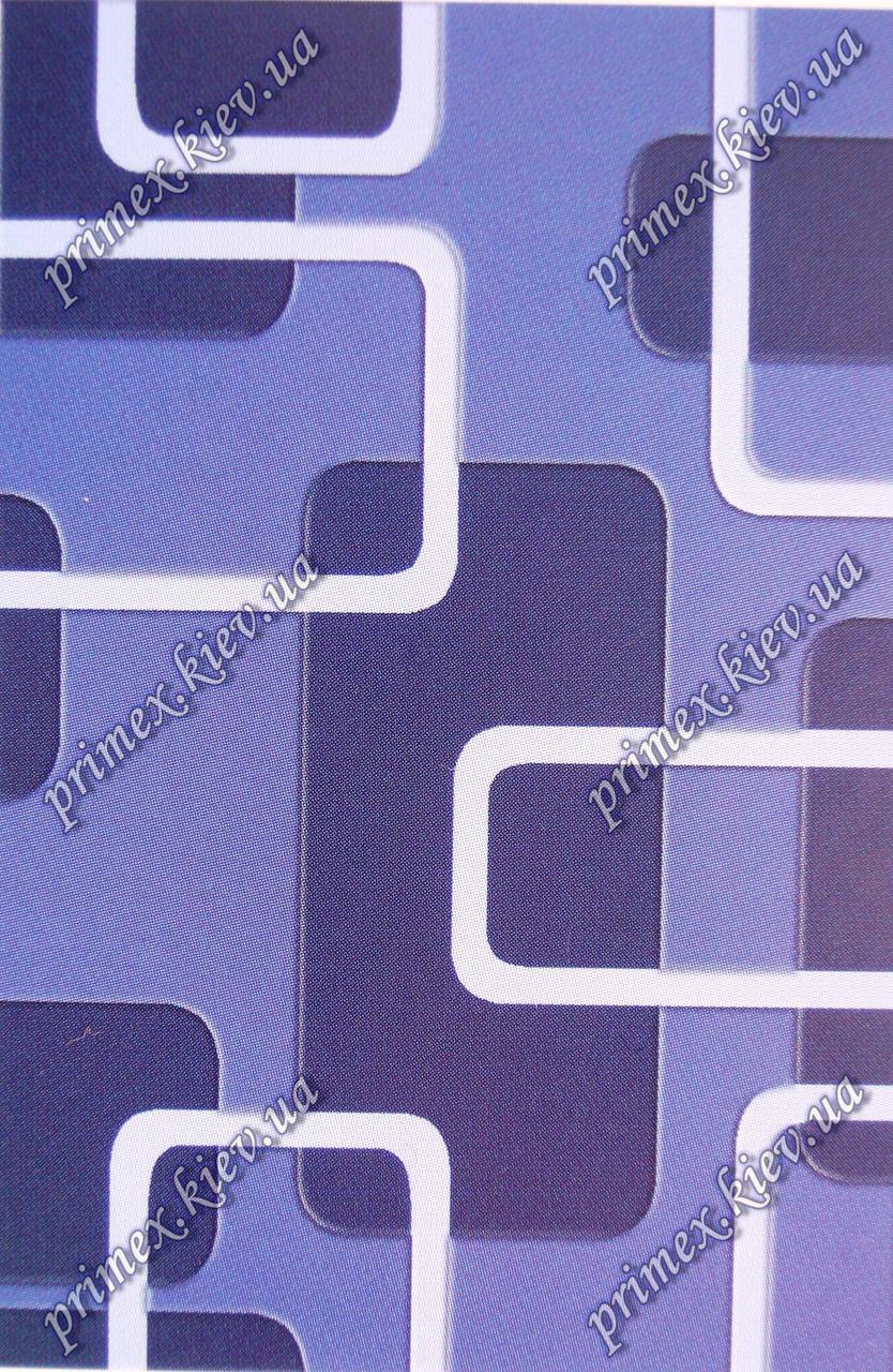 """Рельефный ковер, дорожка Арда """"Тонкие линии"""", цвет синий"""