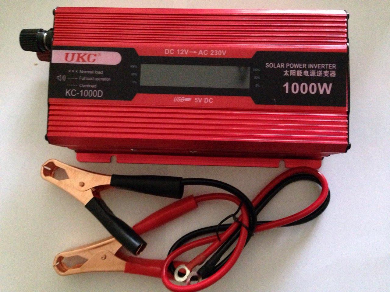 Преобразователь UKC авто инвертор 12V-220V LCD KC-1000D  1000 Вт  с USB