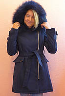 Зимнее пальто для девочки подростка