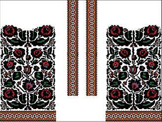 Заготовка для вишивки жіночого плаття-вишиванки під бісер (БС-96с)