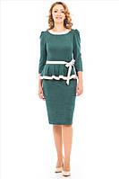 Женское платье Джинна  больших размеров 46, 48, 50, 52 бутылочное