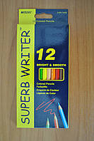 Карандаши цветные Superb Writer 12 цветов