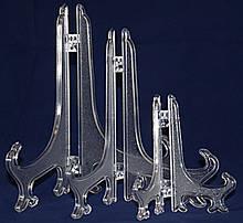 Подставка пластик для декоративных тарелок 17,5 см. прозрачная