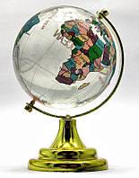 Глобус хрустальный цветной (6)(10х6,5х6,5 см)