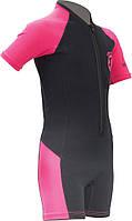 Детские гидрокостюмы Cressi Sub Little Shark 2 мм; чёрно-розовые; для девочек