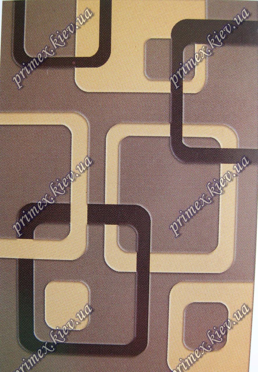 """Рельефный ковер, дорожка Арда """"Магия геометрии"""", цвет сандаловый"""