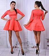 Шикарное персиковое платье мини. Арт-8682/68