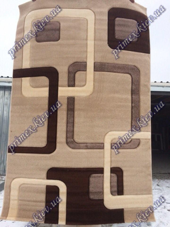 """Рельефный ковер, дорожка Арда """"Магия геометрии"""", цвет коричневый"""