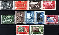 Malaya Penang колонии Малайзия Пинанг 1957 SG#44-54 MNH XF, фото 1