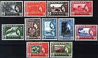 Malaya Penang колонии Малайзия Пинанг 1957 SG#44-54 MNH XF