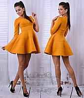 Шикарное горчичное платье мини. Арт-8682/68