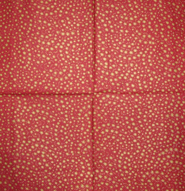 Салфетки декупажные Звёздочки на красном фоне 2124