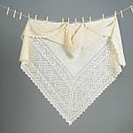 Оренбургский пуховый  платок 115х115 см. Белый., фото 4