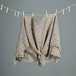 Оренбургский пуховый  платок 115х115 см. Белый., фото 5