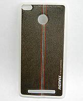 Чехол накладка для Xiaomi Redmi 3 PRO / Xiaomi Redmi 3S силиконовый REMAX Gentleman Series, Фактура кожи