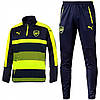 Спортивный костюм Puma, Арсенал (сине-салатовый). Футбольный, тренировочный. Сезон 16/17 (реплика)
