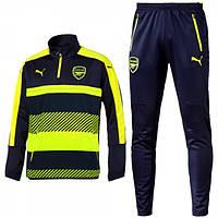 Спортивный костюм Puma, Арсенал (сине-салатовый). Футбольный, тренировочный. Сезон 16/17