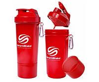 SmartShake Slim NEON Red 500 ml