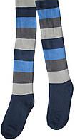 Колготы махровые темно-синие в полоску, детские, рост 116-122 см, Дюна