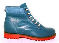 Ботиночки кожаные на цигейки Итальянские