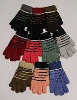 Теплые перчатки для девочек, взрослая группа (школа)