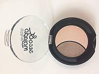 Тени для глаз № 06 розовый беж - коричневый Seco&mojado Duo (Deliplus)