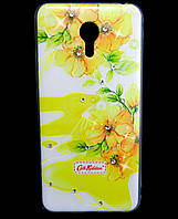 Чехол накладка для Meizu M3 Note / Blue Charm Note3 силиконовый Diamond Cath Kidston, Sun Flowers