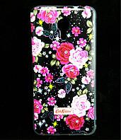 Чехол накладка для Meizu M3 Note / Blue Charm Note3 силиконовый Diamond Cath Kidston, Ночные розы