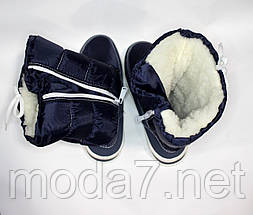 Женские зимние дутики синие №6, фото 3