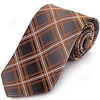Симпатичный мужской широкий галстук SCHONAU & HOUCKEN (ШЕНАУ & ХОЙКЕН) FAREPS-88 оранжевый