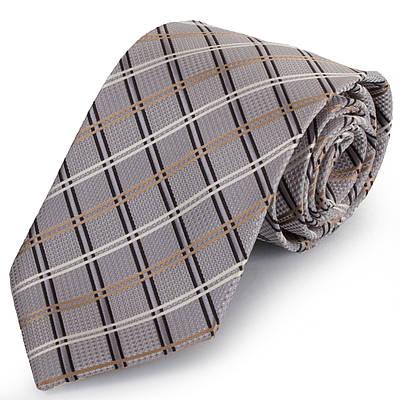 Особенный мужской широкий галстук SCHONAU & HOUCKEN (ШЕНАУ & ХОЙКЕН) FAREPS-89 серый