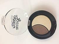 Тени для глаз № 08 золотой беж - коричневый Seco&mojado Duo (Deliplus)