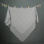 Оренбургский пуховый платок 120х120 см. Цвет:  черный., фото 2