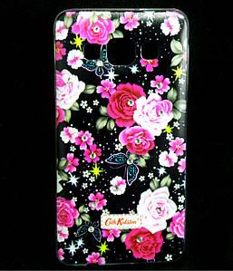 Чехол накладка для Samsung Galaxy A3 A300 силиконовый Diamond Cath Kidston, Ночные розы