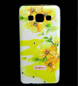 Чехол накладка для Samsung Galaxy A3 A300 силиконовый Diamond Cath Kidston, Sun Flowers