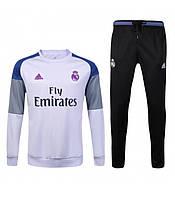 Спортивный костюм Adidas, Реал Мадрид (белый). Футбольный, тренировочный. Сезон 16/17 (реплика)