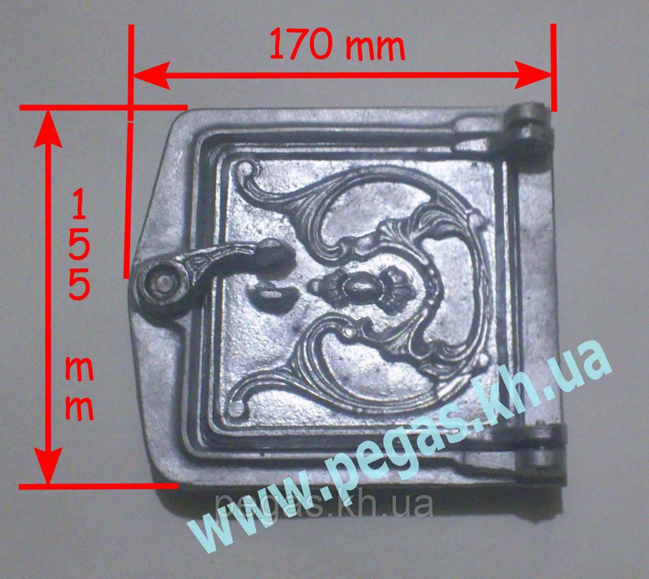Дверка сажетруска алюминиевая (120х120 мм) печи, грубу, мангал