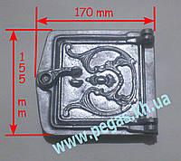 Дверка сажетруска алюминиевая (120х120 мм) печи, грубу, мангал, фото 1