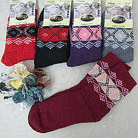 Носки женские АНГОРА (МАХРА). 37-42 р-р .  Женские шерстяные теплые зимние носки , утепленные носки для женщин