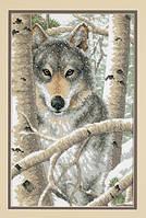 """03228 """"Зимний волк"""" набор для вышивания DIMENSIONS"""