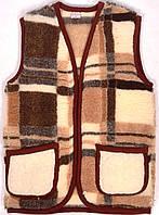 """Жилетка из овечьей шерсти цвет коричневый """"Eluna"""" р-р XL"""