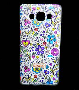 Чехол накладка для Samsung Galaxy A5 A500 силиконовый Diamond Cath Kidston, Цветочная Фантазия