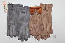 Перчатки женские Замш № 031 (уп 10 шт) , фото 3
