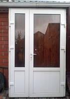Дверь входная с нажимной ручкой, 1500х2150, Rehau 60.