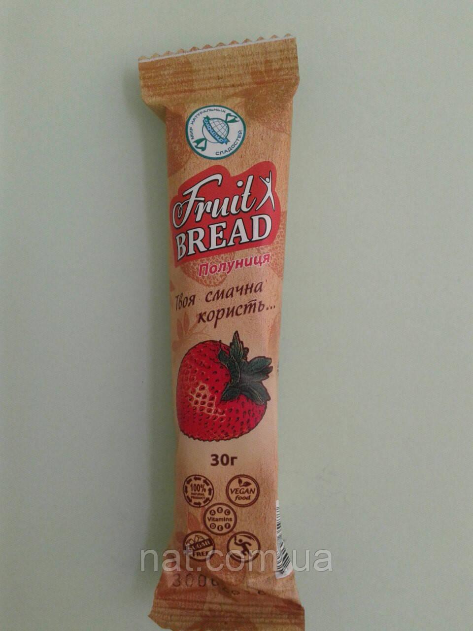 Батончик фруктовый хлеб «Клубника» ТМ Сладкий мир, 30 г