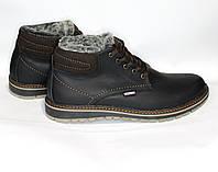 Мужские зимние ботинки Tommy Hilfiger черные 45р