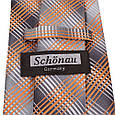 Насичений чоловічий широкий галстук SCHONAU & HOUCKEN (ШЕНАУ & ХОЙКЕН) FAREPS-93 помаранчевий, фото 3