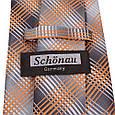 Насыщенный мужской широкий галстук SCHONAU & HOUCKEN (ШЕНАУ & ХОЙКЕН) FAREPS-93 оранжевый, фото 3