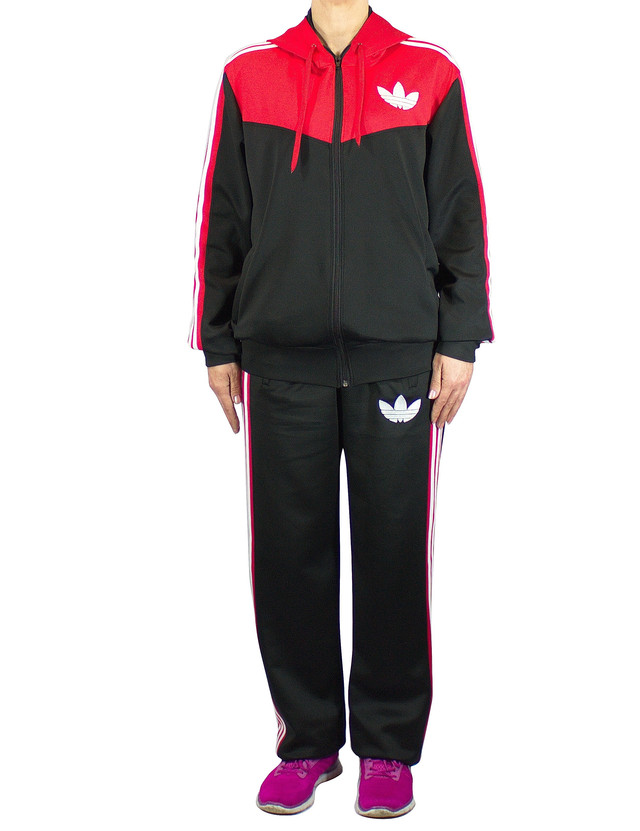 Спортивный костюм с лампасами - стрейч-эластан - три полоски - фото teens.ua